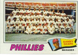 1977 Topps Baseball Cards      467     Philadelphia Phillies CL/Danny Ozark