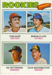 1977 Topps Baseball Cards      472     Don Aase/Bob McClure/Gil Patterson/Dave Wehrmeister RC