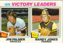 1977 Topps Baseball Cards      005       Jim Palmer/Randy Jones LL
