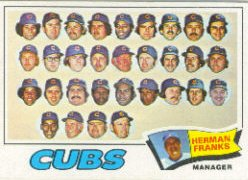 1977 Topps Baseball Cards      518     Chicago Cubs CL/Herman Franks