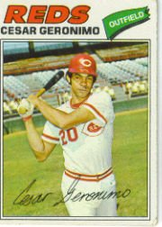 1977 Topps Baseball Cards      535     Cesar Geronimo