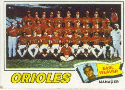 1977 Topps Baseball Cards      546     Baltimore Orioles CL/Weaver