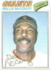 1977 Topps Baseball Cards      547     Willie McCovey