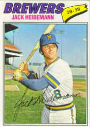1977 Topps Baseball Cards      553     Jack Heidemann