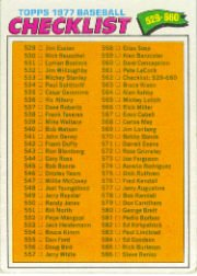 1977 Topps Baseball Cards      562     Checklist 529-660