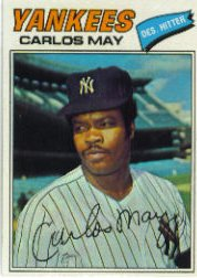 1977 Topps Baseball Cards      568     Carlos May