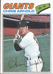 1977 Topps Baseball Cards      591     Chris Arnold