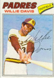 1977 Topps Baseball Cards      603     Willie Davis
