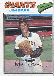 1977 Topps Baseball Cards      609     Jim Barr