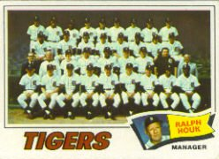 1977 Topps Baseball Cards      621     Detroit Tigers CL/Ralph Houk