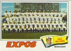 1977 Topps Baseball Cards      647     Montreal Expos CL/Dick Williams