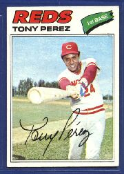 1977 Topps Baseball Cards      655     Tony Perez