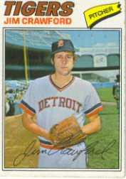 1977 Topps Baseball Cards      069      Jim Crawford