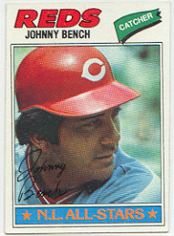 1977 Topps Baseball Cards      070      Johnny Bench