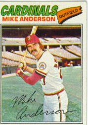 1977 Topps Baseball Cards      072      Mike Anderson