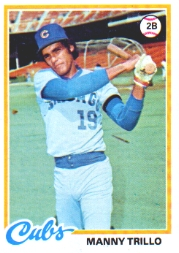 1978 Topps Baseball Cards      123     Manny Trillo
