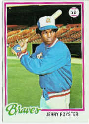 1978 Topps Baseball Cards      187     Jerry Royster DP