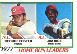 1978 Topps Baseball Cards      202     George Foster/Jim Rice LL DP