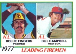 1978 Topps Baseball Cards      208     Rollie Fingers/Bill Campbell LL