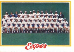 1978 Topps Baseball Cards      244     Montreal Expos CL DP