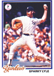 1978 Topps Baseball Cards      035      Sparky Lyle
