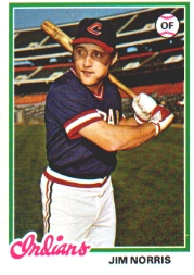 1978 Topps Baseball Cards      484     Jim Norris RC