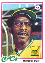 1978 Topps Baseball Cards      055      Mitchell Page RC