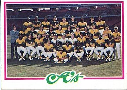 1978 Topps Baseball Cards      577     Oakland Athletics CL