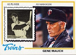 1978 Topps Baseball Cards      601     Gene Mauch MG