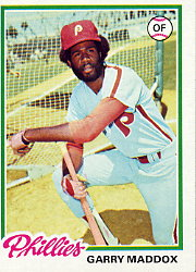 1978 Topps Baseball Cards      610     Garry Maddox