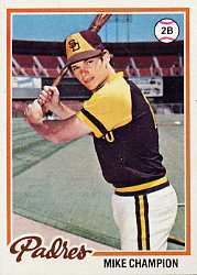 1978 Topps Baseball Cards      683     Mike Champion