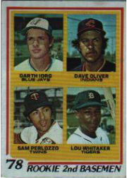 1978 Topps Baseball Cards      704     Garth Iorg/Dave Oliver/Sam Perlozzo/Lou Whitaker RC