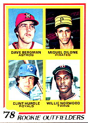 1978 Topps Baseball Cards      705     Dave Bergman/Miguel Milone/Clint Hurdle/Willie Norwood RC
