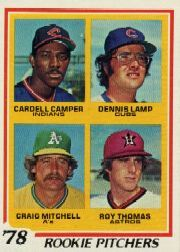 1978 Topps Baseball Cards      711     Cardell Camper/Dennis Lamp/Craig Mitchell/Roy Thomas DP RC