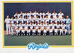 1978 Topps Baseball Cards      724     Kansas City Royals CL