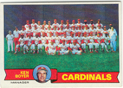 1979 Topps Baseball Cards      192     St. Louis Cardinals CL/Ken Boyer