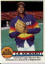 1979 Topps Baseball Cards      203     J.R. Richard RB
