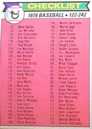 1979 Topps Baseball Cards      241     Checklist 122-242 DP