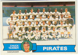 1979 Topps Baseball Cards      244     Pittsburgh Pirates CL/Chuck Tanner