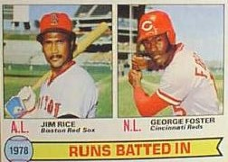 1979 Topps Baseball Cards      003      Jim Rice/George Foster LL