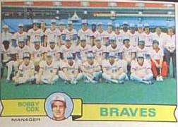 1979 Topps Baseball Cards      302     Atlanta Braves CL/Bobby Cox