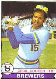 1979 Topps Baseball Cards      325     Cecil Cooper