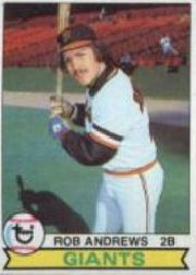 1979 Topps Baseball Cards      034      Rob Andrews