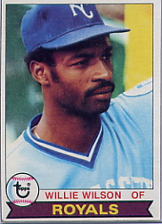 1979 Topps Baseball Cards      409     Willie Wilson RC