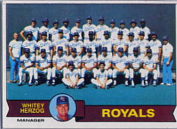 1979 Topps Baseball Cards      451     Kansas City Royals CL/Whitey Herzog