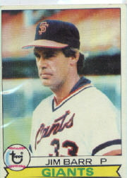 1979 Topps Baseball Cards      461     Jim Barr DP