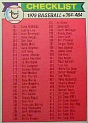 1979 Topps Baseball Cards      483     Checklist 364-484 DP