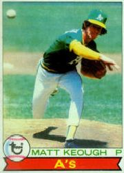 1979 Topps Baseball Cards      554     Matt Keough