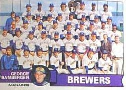 1979 Topps Baseball Cards      577     Milwaukee Brewers CL/George Bamberger