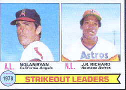 1979 Topps Baseball Cards      006      Nolan Ryan/J.R.Richard LL